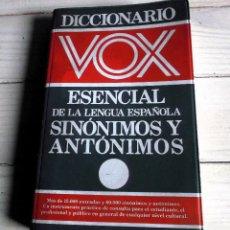 Diccionarios de segunda mano: SINONIMOS Y ANTONIMOS - DICCIONARIO VOX ESENCIAL DE LA LENGUA ESPAÑOLA - SINONIMOS Y ANTONIMOS. Lote 288353463