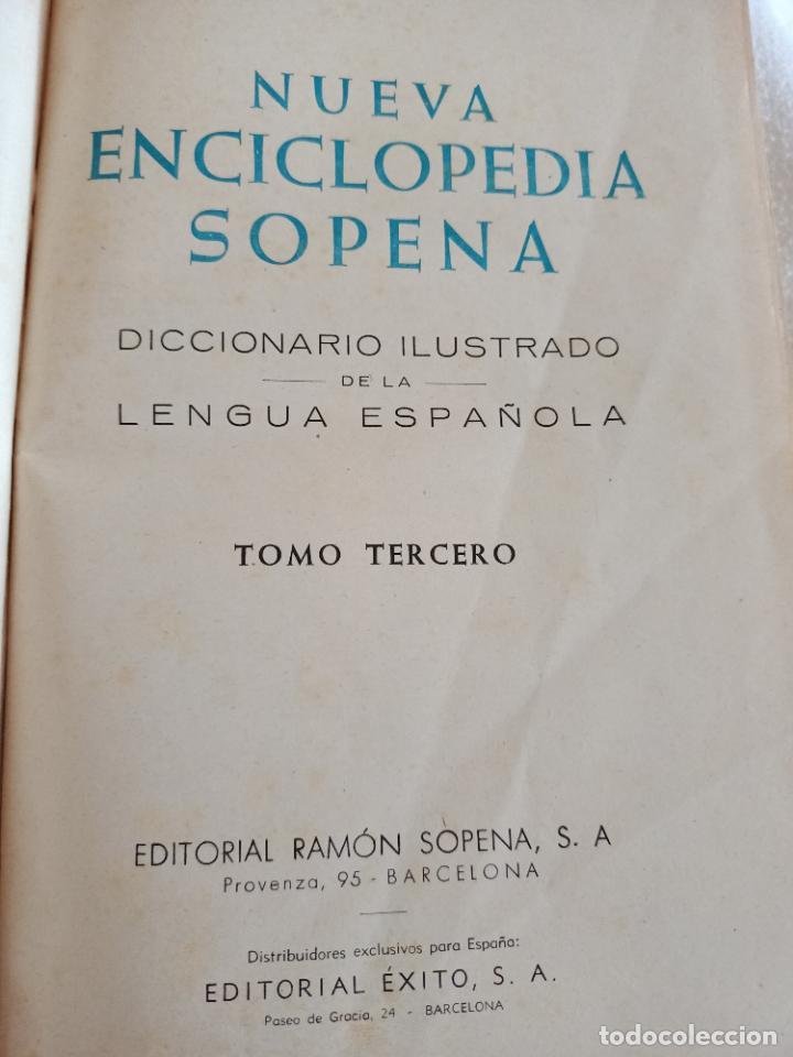 Diccionarios de segunda mano: NUEVA ENCICLOPEDIA SOPENA. DICCIONARIO ILUSTRADO DE LA LENGUA ESPAÑOLA. 5 TOMOS. 1952. ED EXITO. VER - Foto 13 - 288369983