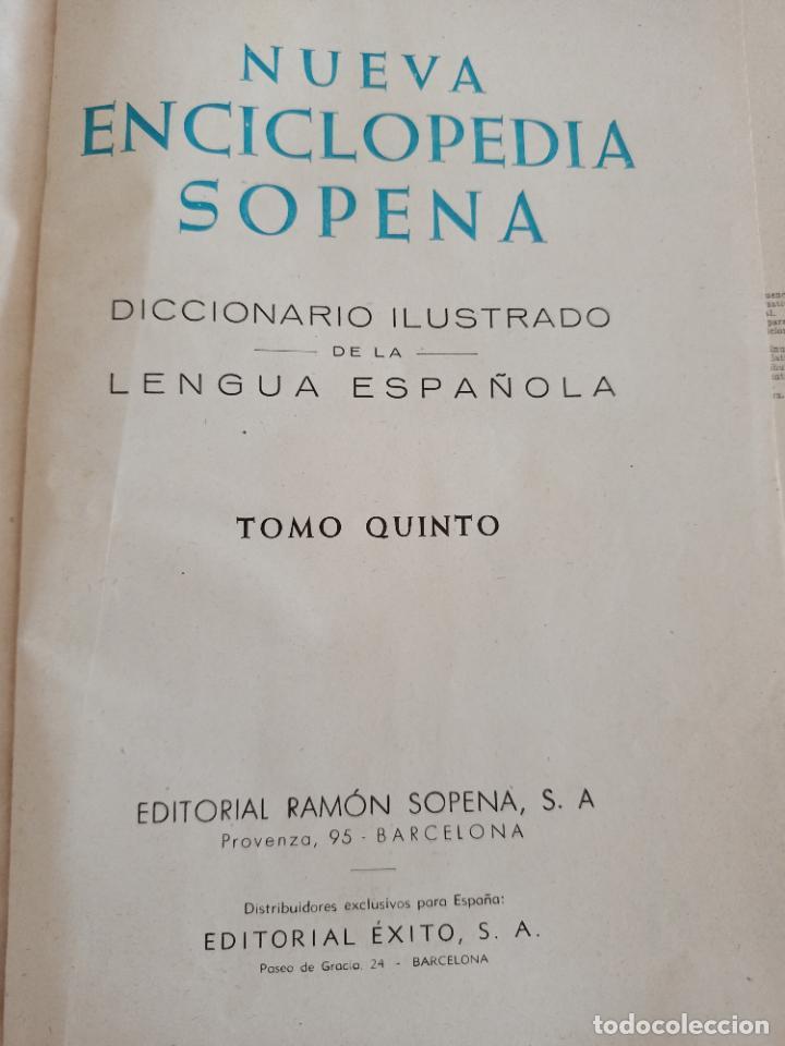 Diccionarios de segunda mano: NUEVA ENCICLOPEDIA SOPENA. DICCIONARIO ILUSTRADO DE LA LENGUA ESPAÑOLA. 5 TOMOS. 1952. ED EXITO. VER - Foto 49 - 288369983