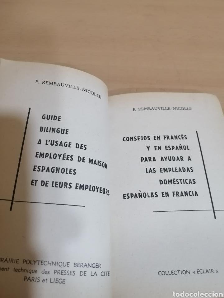 Diccionarios de segunda mano: CONSEJOS EN FRANCÉS Y EN ESPAÑOL PARA LAS EMPLEADAS DOMÉSTICAS ESPAÑOLAS EN FRANCIA - Foto 3 - 288485918