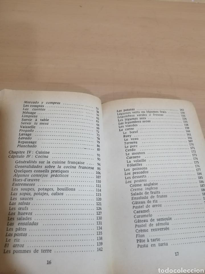 Diccionarios de segunda mano: CONSEJOS EN FRANCÉS Y EN ESPAÑOL PARA LAS EMPLEADAS DOMÉSTICAS ESPAÑOLAS EN FRANCIA - Foto 8 - 288485918