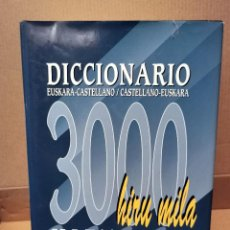 Diccionarios de segunda mano: DICCIONARIO EUSKARA-CASTELLANO-EUSKERA. 3000 HIZTEGIA. ADOREZ 7 - GAZTELANIA. 1996.. Lote 288582138