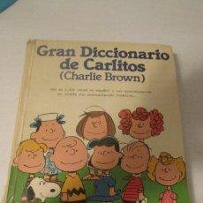 Diccionarios de segunda mano: GRAN DICCIONARIO DE CARLITOS (CHARLIE BROWN) 1984.ESPAÑOL - INGLES. Lote 293957183