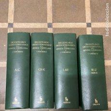 Libri di seconda mano: DICCIONARIO CRÍTICO ETIMOLÓGICO DE LA LENGUA CASTELLANA. J. COROMINAS. 4 VOLÚMENES. GREDOS, 1974.. Lote 294952868
