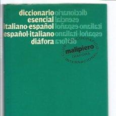 Diccionarios de segunda mano: LIBRO, DICCIONARIO MALPIERO ITALIANO-ESPAÑOL/ESPAÑOL-ITALIANO, ED. DIAFORA 1982. Lote 295505363
