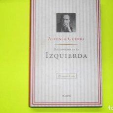 Diccionarios de segunda mano: DICCIONARIO DE LA IZQUIERDA, ALFONSO GUERRA, ED. PLANETA, TAPA DURA. Lote 297065063