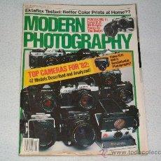 Libros de segunda mano: REVISTA MODERN PHOTOGRAPHY - FOTOGRAFIA - CAMARAS FOTOGRAFICAS - USA - DICIEMBRE 1981. Lote 27286379