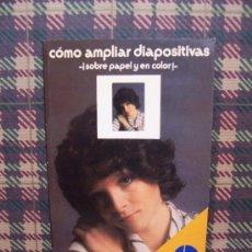 Libros de segunda mano: CÓMO AMPLIAR DIAPOSITIVAS - ED. PARRA,MÓN 1978 - ILUSTRADO. Lote 25944560