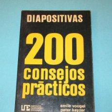 Libros de segunda mano: DIAPOSITIVAS. 200 CONSEJOS PRÁCTICOS. EMILE VOOGEL. PETER KEYZER. Lote 27902725