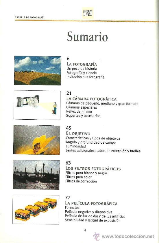 Libros de segunda mano: Escuela de fotografía : instrumentos, técnicas y arte - Foto 3 - 27989460