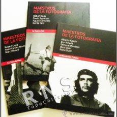 Libros de segunda mano: LOTE LIBROS MAESTROS DE LA FOTOGRAFÍA GUERRA CIVIL REVOLUCIÓN CUBANA ARTE HISTORIA FOTOS CAPA KORDA. Lote 32324790