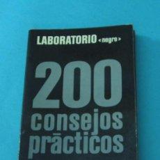 Libros de segunda mano: 200 CONSEJOS PRÁCTICOS. LABORATORIO NEGRO. EMILE VOOGEL. PETER KEYZER. Lote 32705877