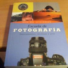 Libros de segunda mano: ESCUELA DE FOTOGRAFIA INSTRUMENTOS TECNICA Y ARTE. GUIA AFICIONADO. SUSAETA PRIMERA EDICION (LE6). Lote 38646596