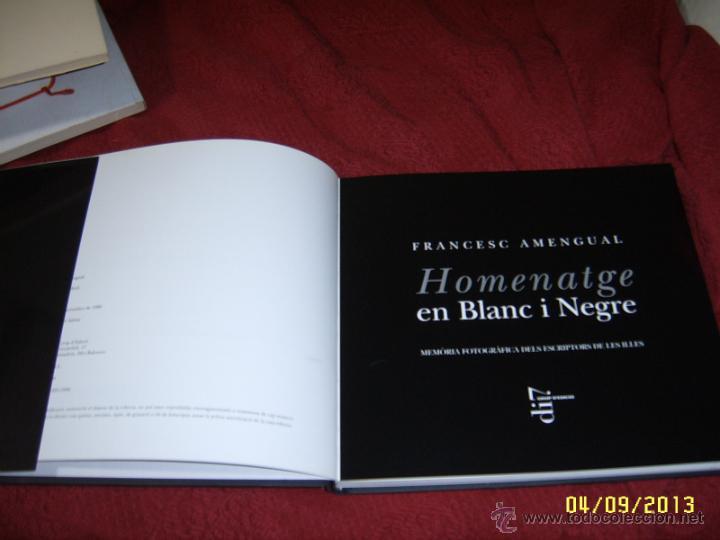 Libros de segunda mano: HOMENATGE EN BLANC I NEGRE.FRANCESC AMENGUAL.1ª EDICIÓ 1996.UNA VERDADERA JOIA!!!.VEURE FOTOS. - Foto 2 - 52492256