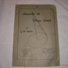 Libros de segunda mano: ELEMENTOS DE DIBUJO LINEAL 1º CUADERNO G.M. BRUÑO. Lote 40961943