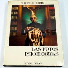 Libros de segunda mano: LAS FOTOS PSICOLÓGICAS, ALBERTO SCHOMMER. NUEVA LENTE, 1975. 29X23 CM.. Lote 43510204