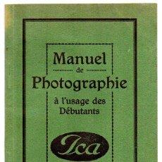 Libros de segunda mano: MANUAL DE FOTOGRAFIA ICA PARA PRINCIPIANTES, 31 PAGINAS. Lote 46501098
