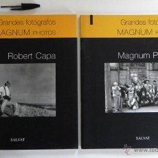 Libros de segunda mano: LIBROS DE FOTOGRAFÍA - GRANDES FOTÓGRAFOS MAGNUM PHOTOS - ROBERT CAPA - FOTOS HISTORIA ARTE - LIBRO. Lote 46932143