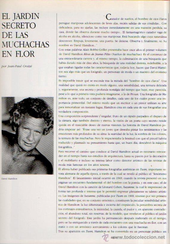 Libros de segunda mano: LOS GRANDES FOTÓGRAFOS. DAVID HAMILTON. EDICIONES ORBIS, 1983 - Foto 2 - 49632541