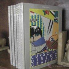 Libros de segunda mano: CURSO DE DISEÑO GRAFICO, ORBIS, 6 TOMOS ( NO COMPLETA) REF AZG0. Lote 53176804