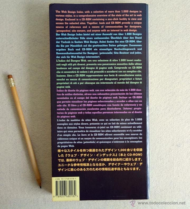 Libros de segunda mano: WEB DESIGN INDEX. CASTELLANO. CON CD. Peppin Press. (Diseño Web) - Foto 10 - 53990352