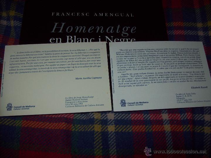 Libros de segunda mano: HOMENATGE EN BLANC I NEGRE ( MEMÒRIA FOTOGRÀFICA DELS ESCRIPTORS DE LES ILLES). F. AMENGUAL. 1996. - Foto 27 - 54795166