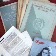Libros de segunda mano: LOT 6 BASES CONCURSO FOTOGRÁFICO NEGTOR AVÍCOLAS REUS 7 BUTLLETI AGRUPACIÓN FOTOGRÁFICA DE CATALUÑA. Lote 58139200