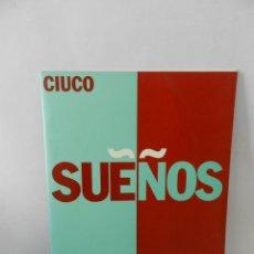 Libros de segunda mano: CIUCO GUTIERREZ. SUEÑOS. MADRID. 1994. CATALOGO EXPOSICION FOTOGRAFIA. Lote 58184327