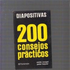 Libros de segunda mano: DIAPOSITIVAS 200 CONSEJOS PRÁCTICOS / EMILE VOOGEL. Lote 58501318
