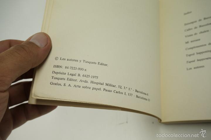 Libros de segunda mano: ARQUITECTURA Y LÁGRIMAS, FOTOGRAFÍAS DE LEOPOLDO POMÉS. TUSQUETS ED. 1975. - Foto 3 - 60421107