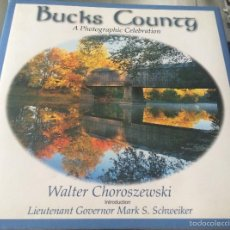 Libros de segunda mano: 'BUCKS COUNTY', DE W. CHOROSZEWSKI. LIBRO DE FOTOS DE LA AMÉRICA RURAL. TAPAS DURAS. 2001. NUEVO.. Lote 60534511