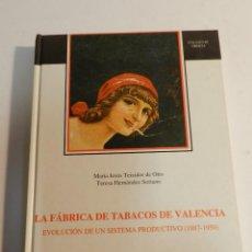Libros de segunda mano: LA FÁBRICA DE TABACOS DE VALENCIA EVOLUCIÓN DE UN SISTEMA PRODUCTIVO 1887-1950 DISEÑO TABACO CIGARRO. Lote 63576560
