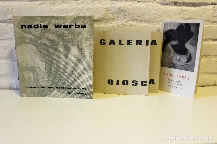 LOTE NADIA WERBA. INCLUYE SERIGRAFÍAS ORIGINALES. MUSEO DE ARTE CONTEMPORÁNEO BARCELONA 1962 (Libros de Segunda Mano - Bellas artes, ocio y coleccionismo - Diseño y Fotografía)