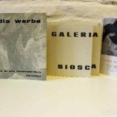 Libros de segunda mano: LOTE NADIA WERBA. INCLUYE SERIGRAFÍAS ORIGINALES. MUSEO DE ARTE CONTEMPORÁNEO BARCELONA 1962. Lote 67548013