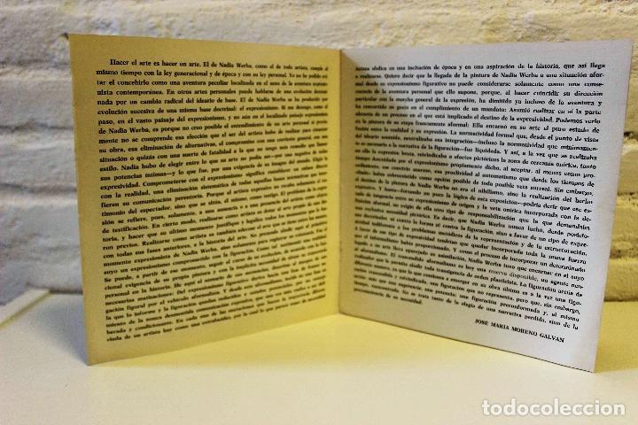 Libros de segunda mano: Lote Nadia Werba. incluye serigrafías originales. Museo de Arte contemporáneo Barcelona 1962 - Foto 2 - 67548013