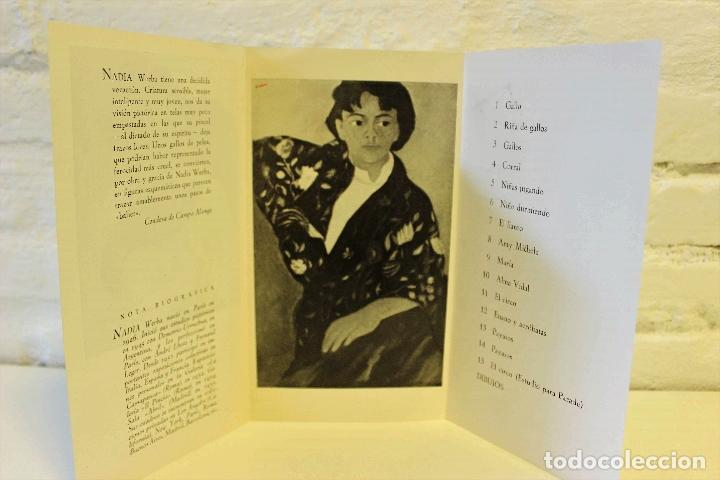 Libros de segunda mano: Lote Nadia Werba. incluye serigrafías originales. Museo de Arte contemporáneo Barcelona 1962 - Foto 5 - 67548013