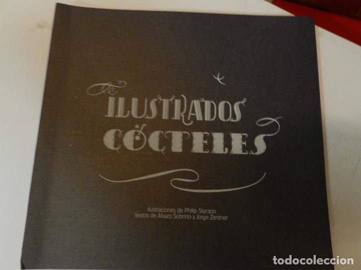 CÓCTELES ILUSTRADOS DE ÁLVARO SOBRINO DISEÑO GRÁFICO TIPOGRAFÍA NO VENAL PHILIP STANTON (Libros de Segunda Mano - Bellas artes, ocio y coleccionismo - Diseño y Fotografía)
