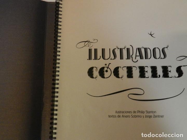 Libros de segunda mano: CÓCTELES ILUSTRADOS DE ÁLVARO SOBRINO DISEÑO GRÁFICO TIPOGRAFÍA NO VENAL PHILIP STANTON - Foto 2 - 112359020