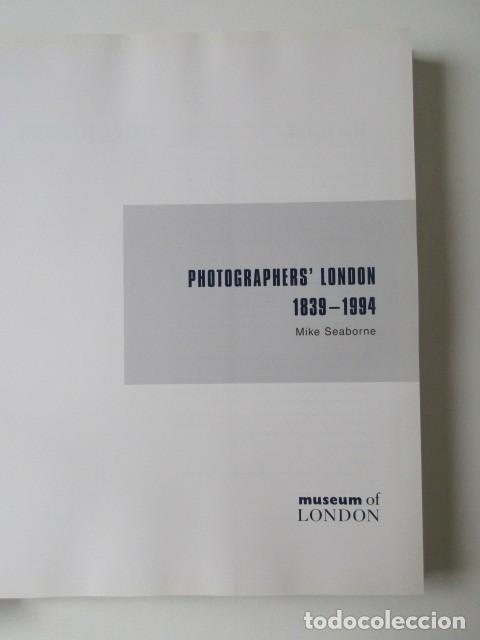 Libros de segunda mano: LIBRO GRAN FORMATO SOBRE LOS FOTÓGRAFOS DE LONDRES 1939-1994, MIKE SEABORNE, 1997 - Foto 9 - 68398717