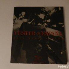 Libros de segunda mano: VESTIR EN ESPAÑA .- ROSA MARÍA PEREDA .- MODA ALTA COSTURA FOTOGRAFIA. Lote 70169673