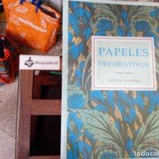 Libros de segunda mano: PAPELES DECORATIVOS - JOANNA BANHAM (DIFÍCIL, GRAN FORMATO) 1990. Lote 82080596