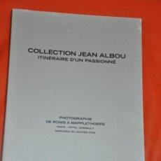 Libros de segunda mano: COLLECTION JEAN ALBOU , CATALOGO SUBASTAS DE FOTOGRAFIA , ARTCURIAL , 2008 , MAPPLETHORPE. Lote 84042108