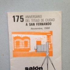 Libros de segunda mano: SALÓN DE FOTOGRAFIA 1988 SAN FERNANDO. VARIOS AUTORES. Lote 85318164