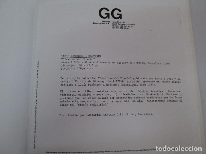 Libros de segunda mano: LLUIS DOMENECH I MONTANER. LOURDES FIGUERAS. CLASICOS DEL DISEÑO. 1994. VER FOTOGRAFIAS ADJUNTAS - Foto 8 - 88364672