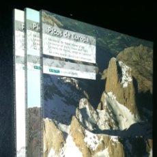 Libros de segunda mano: PICOS DE EUROPA UNIVERSO DE ROCA, NIEVE Y LUZ A VISTA DE AGUILA / VOLUMEN 1, 2 Y 3 / VALENTIN ORMEÑO. Lote 98382631
