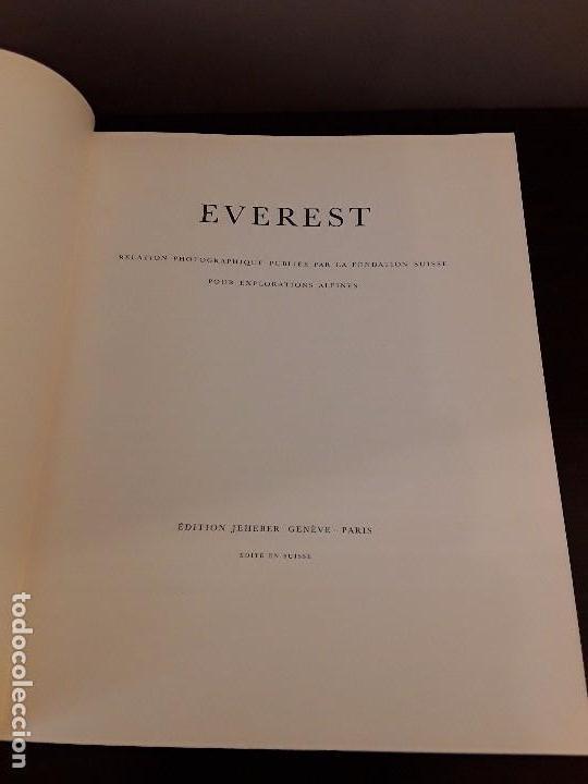 Libros de segunda mano: EVEREST REALITATION PHOTOGRAPHIQUE- EDITON JEHEBER GENEVE - PARIS- EDITE EN SUISSE - Foto 4 - 100443959