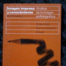 Libros de segunda mano: IMAGEN IMPRESA Y CONOCIMIENTO - ANALISIS DE LA IMAGEN PREFOTOGRAFICA - IVINS - GUSTAVO GILI. Lote 100753191