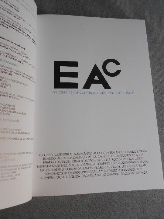 Libros de segunda mano: XVI CONCURSO DE ENCUENTROS DE ARTE CONTEMPORANEO - Foto 3 - 109463187
