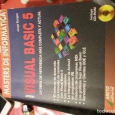 Libros de segunda mano: MÁSTERS DE INFORMÁTICA MICROSOFT VISUAL BASIC 5 JORGE BRUGOS. Lote 112934591