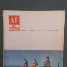 Libros de segunda mano: A548.- AF / ARTE FOTOGRAFICO.- AÑO VII - NUMERO 74 - FEBRERO 1958. Lote 115393883